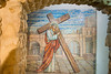 Jerusalem - Church of the Condemnation, Mural in the Prison of Jesus