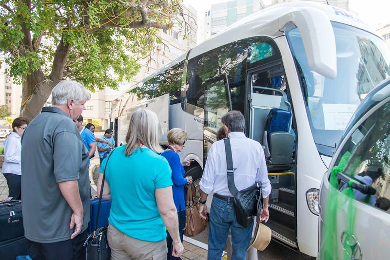 Seasons Hotel, Netanya - Loading bus for Day 3