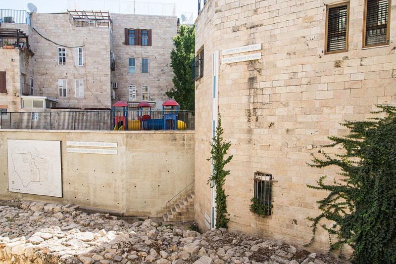 Jerusalem - Historical wall signs