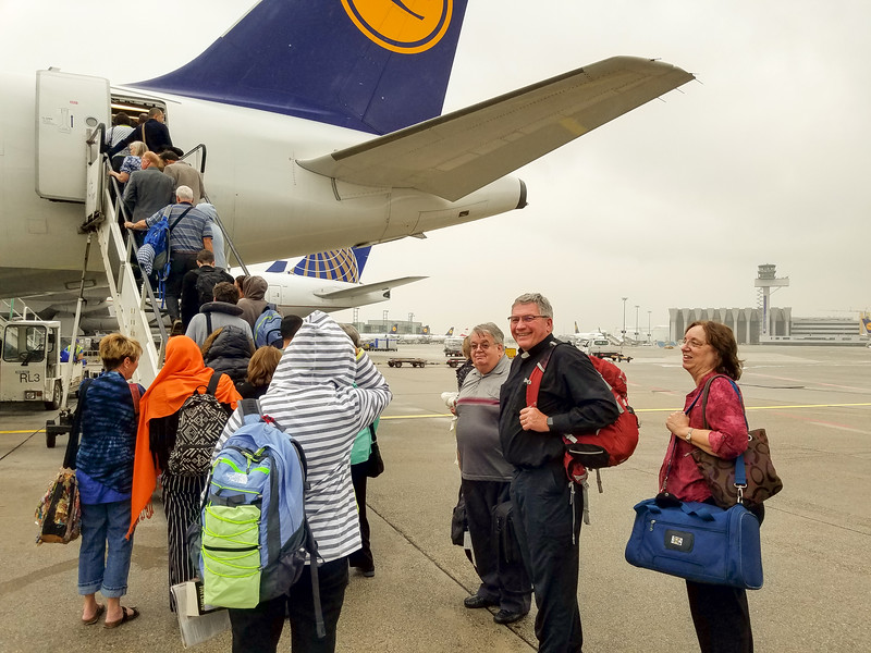Changing planes in Frankfurt