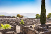 Capernaum - Ruins with Sea of Galilee in Background