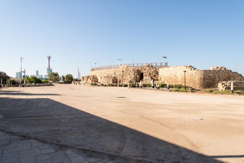 Caesarea Maritima Exterior of Roman Amphitheater