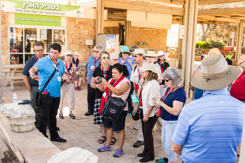 Caesarea Maritima - Group Gathering with our Guide, Talib