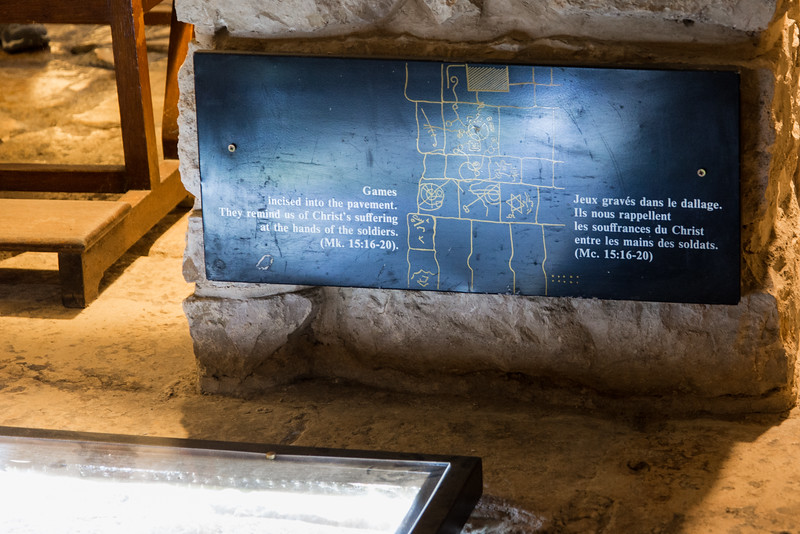 Jerusalem - Church of the Condemnation,  area where guards played games in the Prison of Jesus