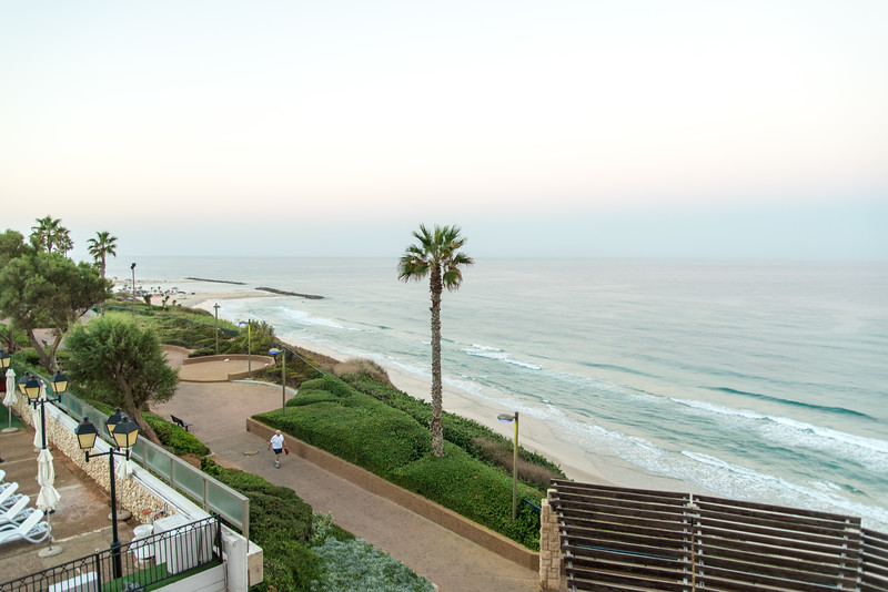 Seasons Hotel, Netanya - View from Room, Mediterranean Beach