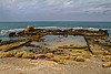 All that remains of the foundation of Herod's Palace at Caesarea.