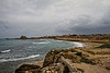 The Roman harbor at Caesarea.