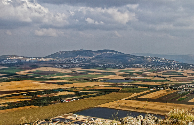 Overlooking the the fertile Jezereel Valley from Mt. Precipice.