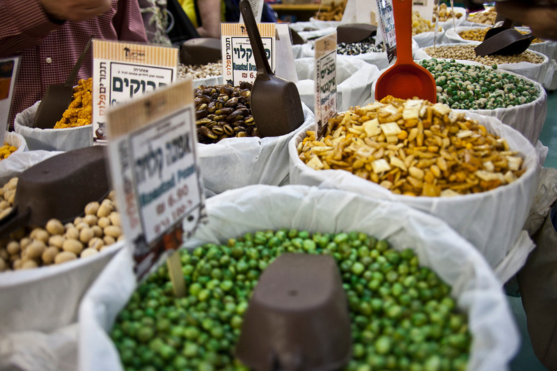 Galilee8287<br /> Travelers could sample most anything available in the kibbutz before selecting their purchases.