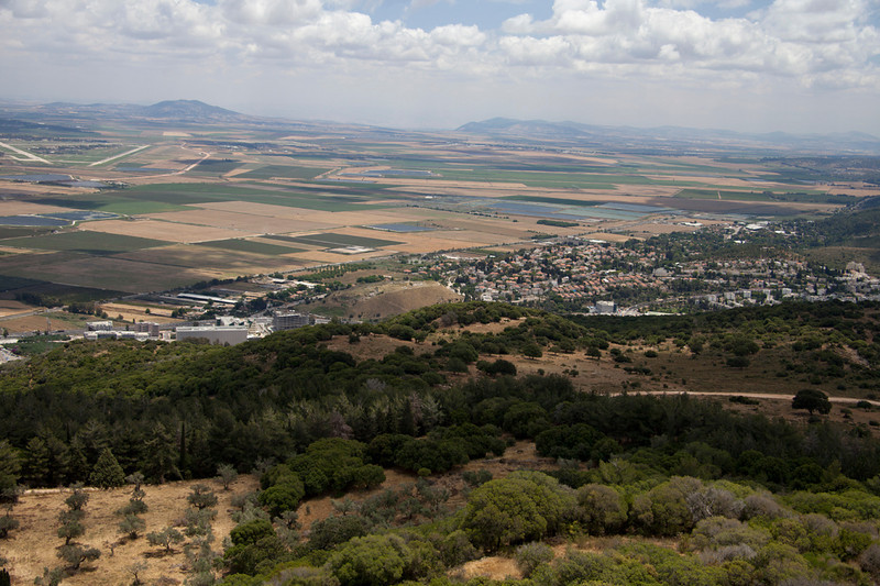 Carmel8163<br /> This fabulous southern view of the Jezreel Valley as seen from this strategic stronghold of Mt. Carmel.