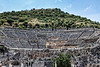 Ephesus0371<br /> The magnitude of the Grand Theater is evident as seen from the Harbor Street in ancient Ephesus.