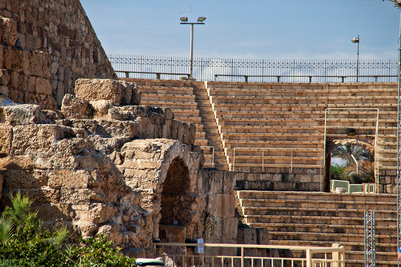 Caesarea8090<br /> Though adorned with modern lights and rails for safety, much of the theater is intact.