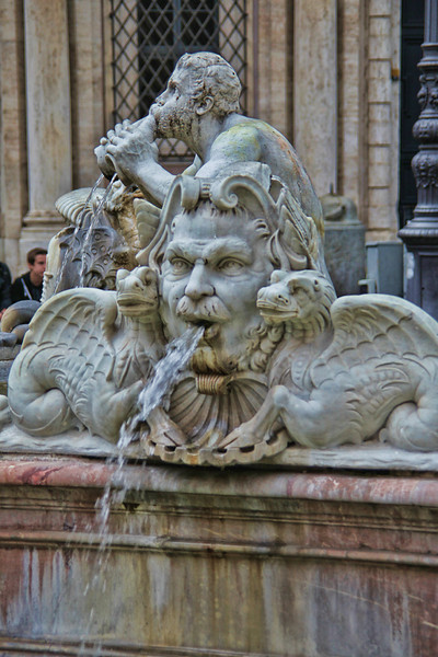 Rome9400<br /> Details from one of the fountains adorning the front of Piazza Navona