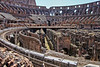 Rome9504<br /> Inside Colosseum/above and below 'floor'