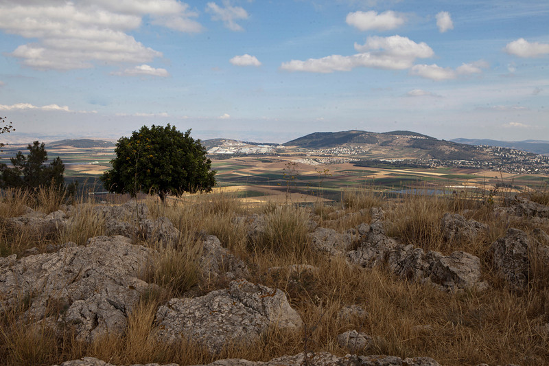 Mt. Precipice8219<br /> This eastern view over the Jezreel Valley.  Nazareth would be behind the viewer.