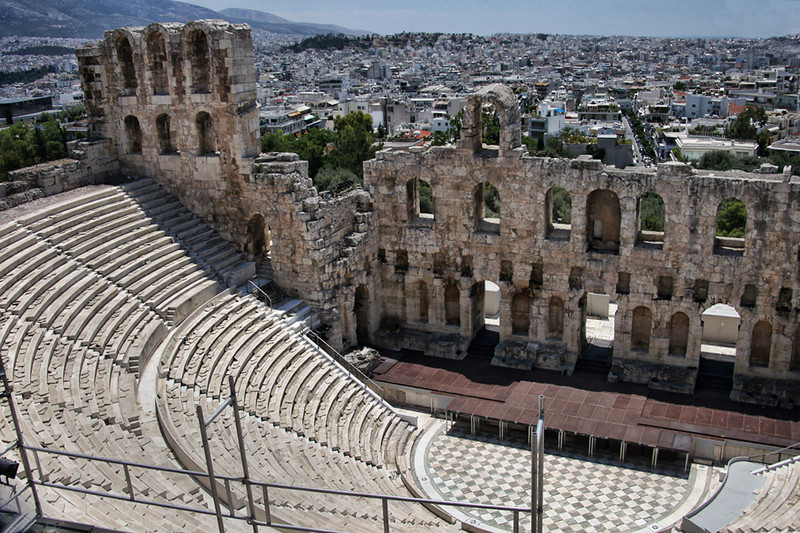 Athens0009<br /> Theater of Herod Atticus, apparently still used today for theater and concerts.