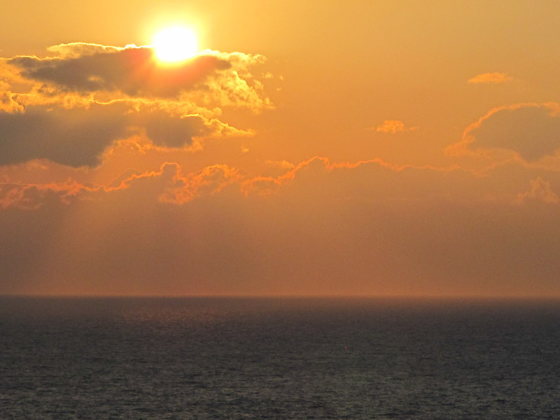 Cruise1611<br /> Our first sunset on the Mediterranean