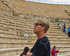 Pastor Skip in the Roman Theater at CAESAREA