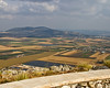 Located near the top of the hill at the far end of the valley is the town where Jesus healed the sick boy.