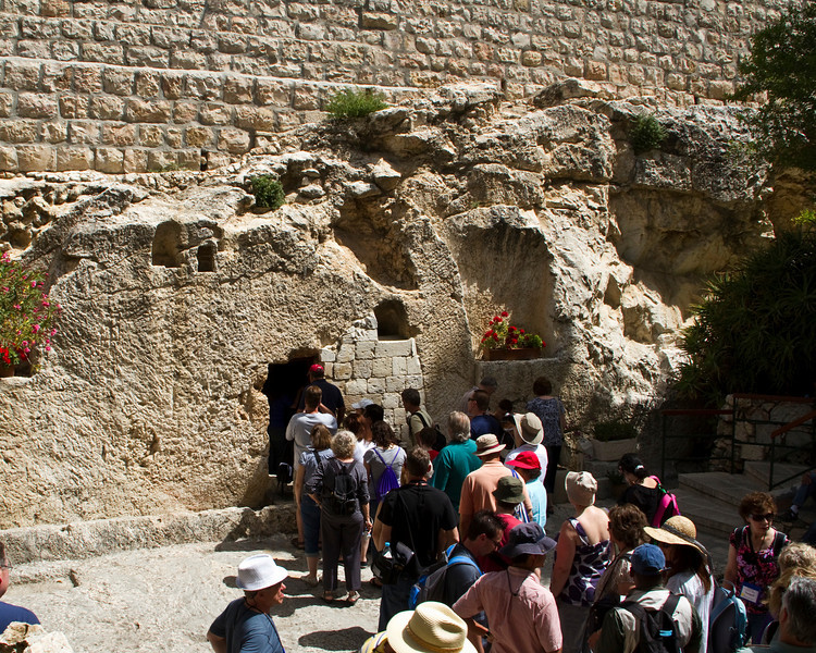 A short walk from the Skull is the Garden Tomb where it is believed  Jesus was buried. The tomb was owned by a man named Joseph of Arimathaena who begged Pilate for the body of Christ. Within this sepulchre never was a body laid before.