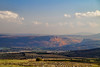 Mt Arbel as seen from near Mt Beautitude to the north of the Sea of Galilee.