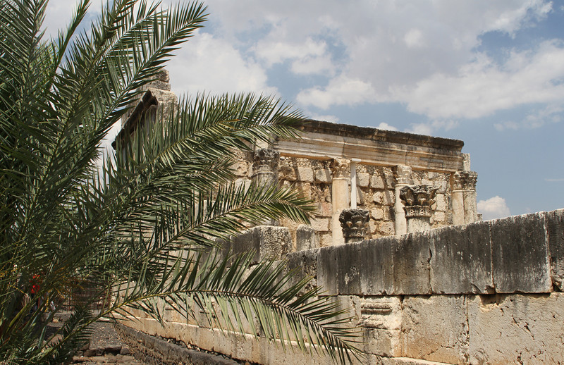 Capernaum, this is a synagog where Jesus taught. Includes the following image.