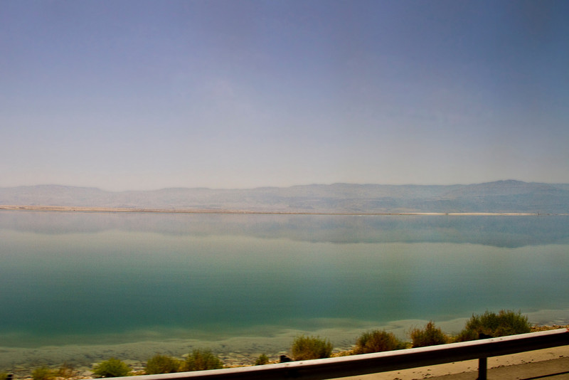 The Dead Sea is the lowest spot on the earth (1300 feet below sea level ) and has the highest mineral content of any body of water on the earth. It is so salty one cannot sink in it's waters. It is a delightful and very odd sensation to float like a ball without any effort at all. Many skin care products come from the Dead Sea.