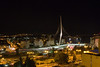 Modern Jerusalem at night from my hotel room - views one and two.