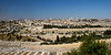 The old city of Jerusalem, as seen from up on the Mount of Olives.