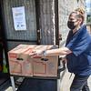 Karen McEvoy volunteers at Helping Hands Food Pantry in Teaneck. 06/15/2021 Photo by Jeff Rhode/Holy Name Medical Center