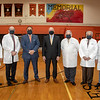 West New York Mayor Gabriel Rodriguez was on hand to give a tour of the planned COVID vaccination site at Memorial High School in Union City to President and CEO of Holy Name Medical Center Michael Maron, and several Holy Name doctors that serve the community.