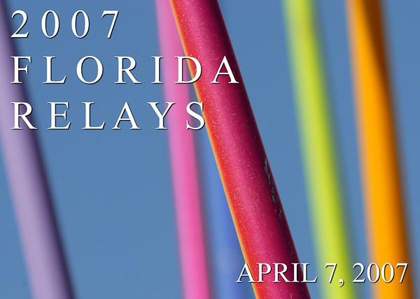 """Javelin Bouquet"" 2007 Florida Relays"