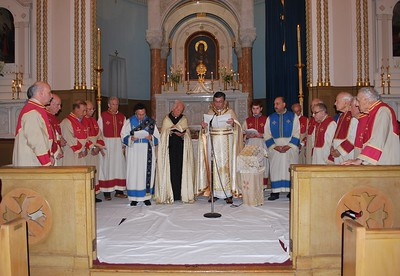 Holy Trinity, Cambridge MA - Washing of the Feet Service, April 18, 2019, Twelve Veterans from the Parish