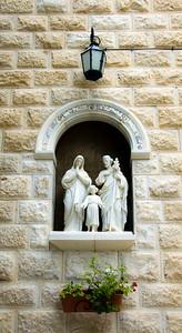 Outside the Holy Family chapel.