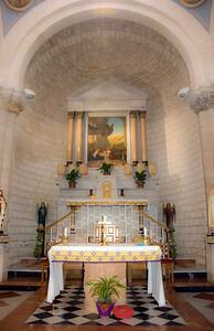 The beautiful apse in the Wedding Church in Cana.