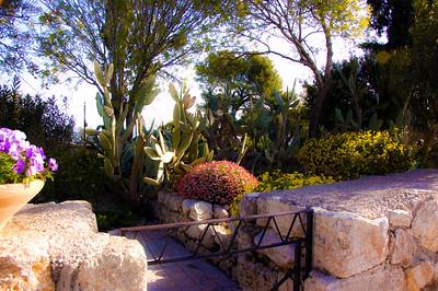 Franciscan garden at Mount Tabor.