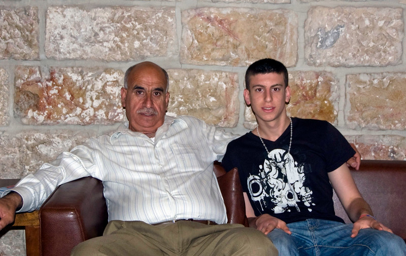 Essam (our driver) and nephew  Maroon