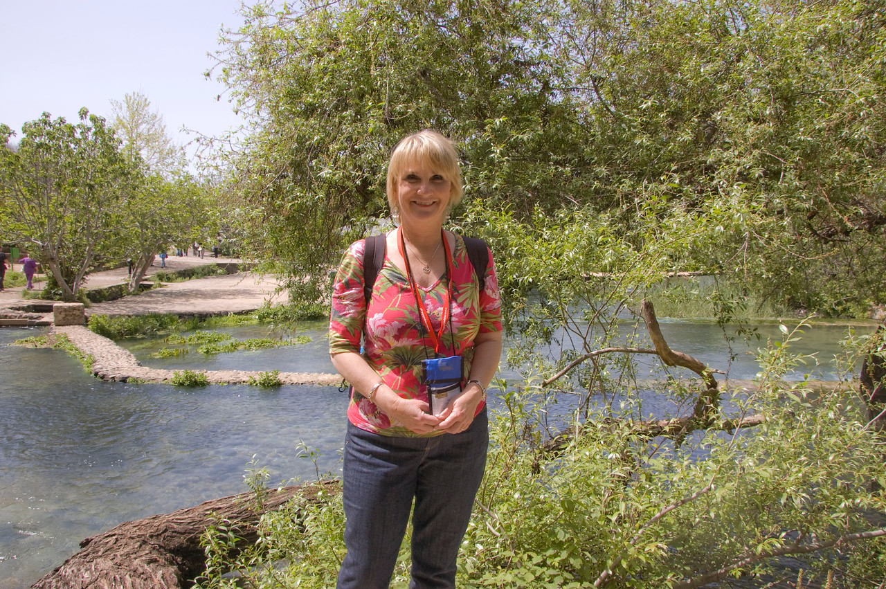 Me at the headwaters of the River Jordan