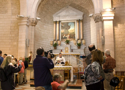 Renewing wedding vows at Church in Cana