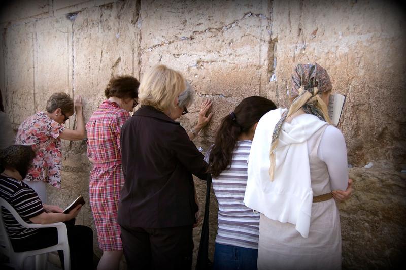 Praying at the Wailing Wall