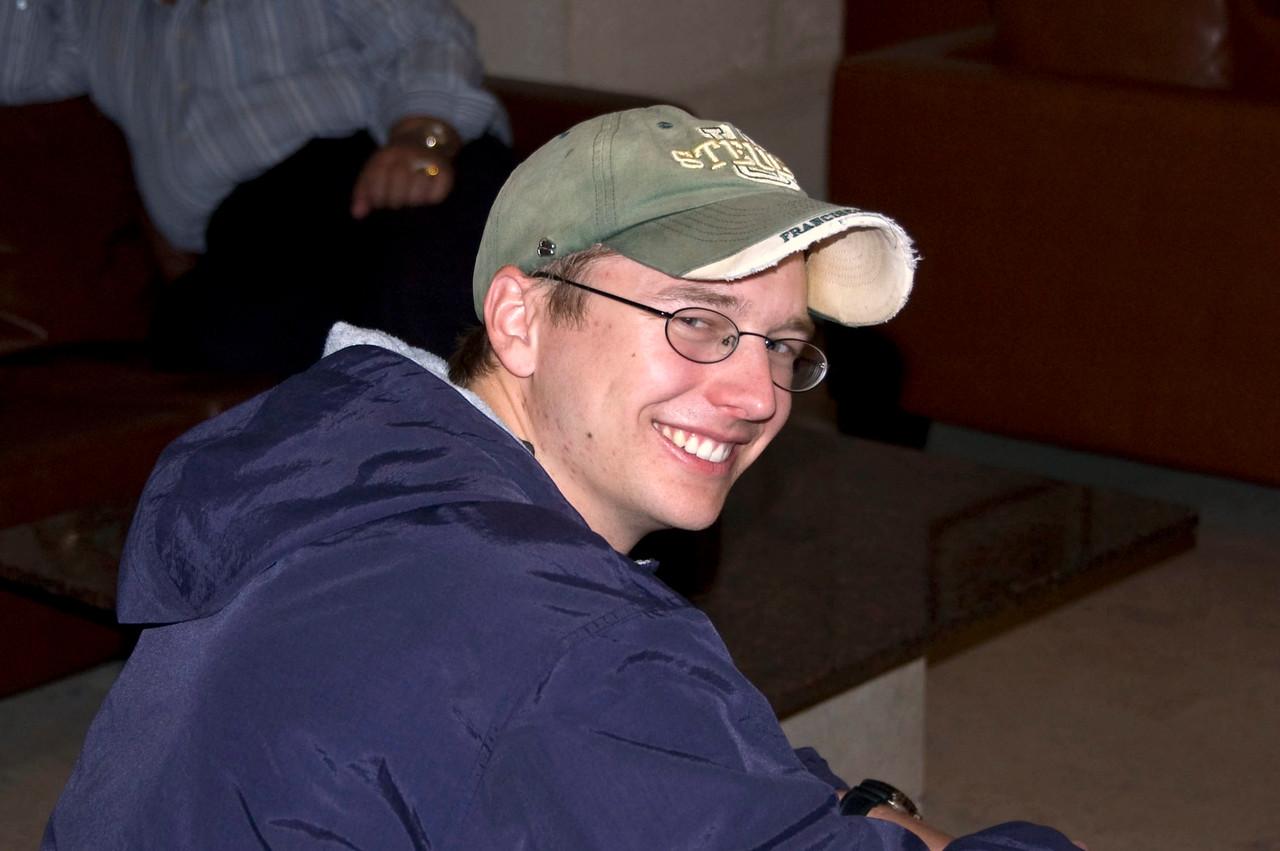 Chris, our seminarian. Such a fun-loving guy