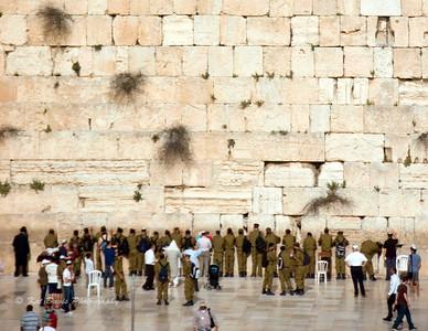November The Israeli military at the Wailing Wall
