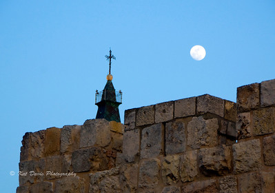October Moonrise over the Old City of Jerusalem