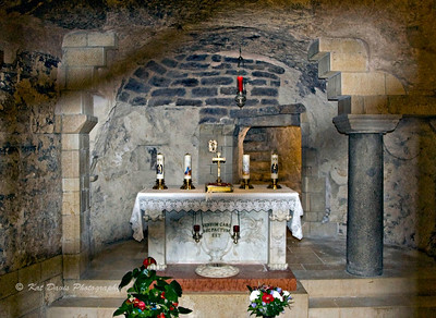 "March ""The Word Became Flesh Here"" The grotto in the Church of the Annunciation"