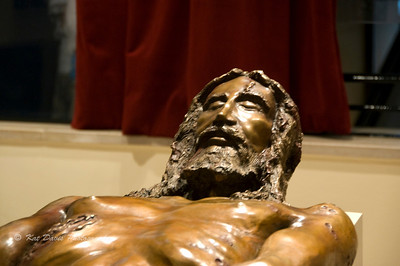 Recreation in bronze from the Shroud of Turin.