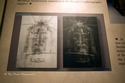 Photos of the Shroud of Turin.