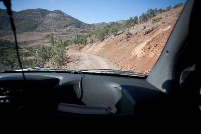 Geweldig verloren in de bergen ergens tussen Nemrute en Adiaman