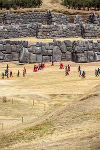 Cuzco : de ruïnes van Sacsayhuaman.