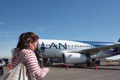 Puno : en ja, we waren goede klanten van LAN. Op weg naar Cuzco.