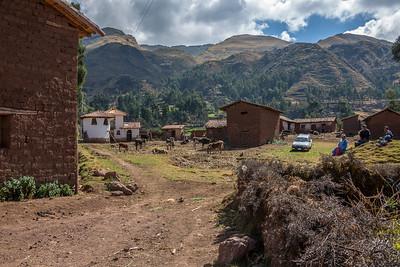 'Platte'landsleven in de bergen rond Huasao.